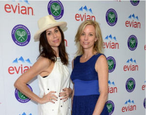 Minnie Driver and Kate Driver at the evian Live young suite