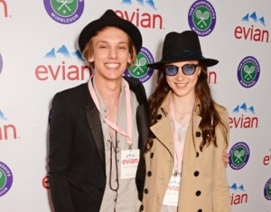 Jamie Campbell Bower and Matlia Lowther