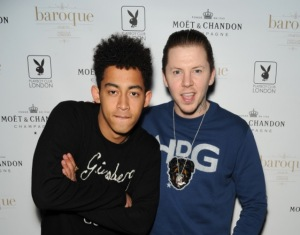 Jordan Stephens from Rizzle Kicks and Professor Green