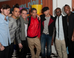Brian Friedman with X Factor hopefuls FYD