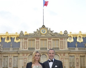 Martell's Ambassador Diane Kruger and CEO of Martell Philippe Guettat