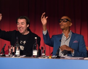Jonathan Ross and Ru Paul