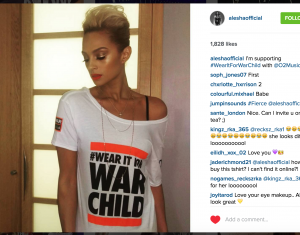 Alesha Dixon for #WearItForWarChild