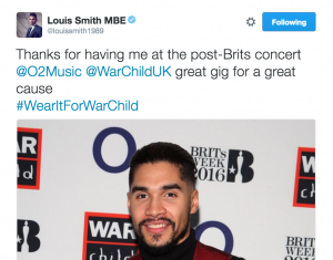 Louis Smith for #WearItForWarChild