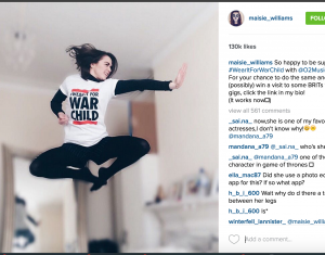 Maise Williams for #WearItForWarChild