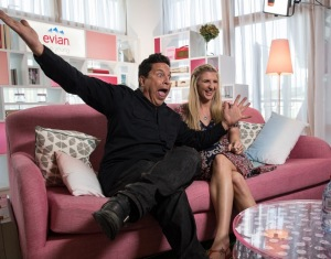 DAY 6. Dom Joly and Rebecca Adlington