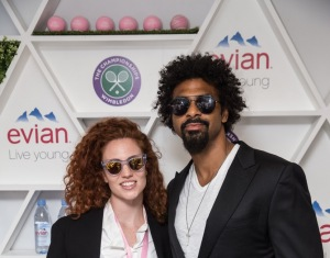 Jess Glynne and David Haye