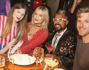 Dee Moran, Laura Whitmore, Azim Majid and Dene Smith