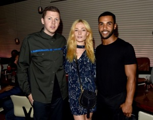 Professor Green, Clara Paget and Lucien Laviscount