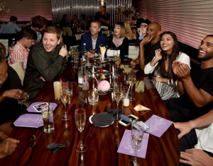 Professor Green, Joshua Kane, Vanessa White & Lucien Laviscount attend the STK Ibiza pre-launch party at STK London on 21st June 2016. 3.JPG