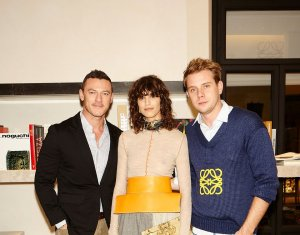 Luke Evans with Juliette Binoche and Jonathan Anderson