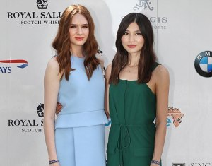 Karen Gillan and Gemma Chan