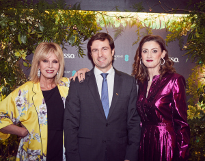 Host Joanna Lumley with Nespresso Managing Director Francisco Nogueira and Amanda Berry OBE, BAFTA Chief Executive