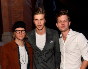 Dougie Poynter, Toby Huntington Whiteley, Jeremy Irvine
