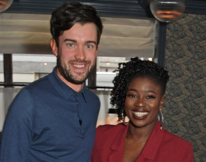 Jack Whitehall And Clara Amfo At The Launch Of GREY GOOSE's New Brand Platform Live Victoriously
