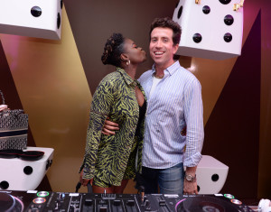 Clara Amfo and Nick Grimshaw (DJ'd)